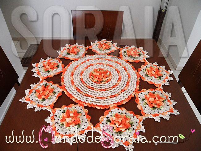 Toalha square centros de mesa pinterest croch - Centros de mesa de ganchillo ...