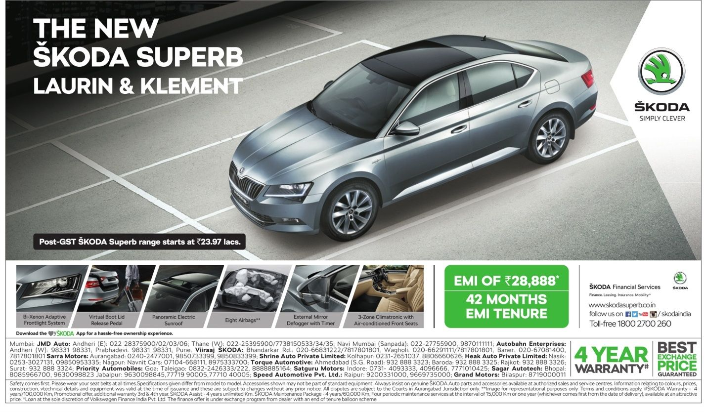Skoda The New Superb Laurin And Klement Car Ad Skoda Car