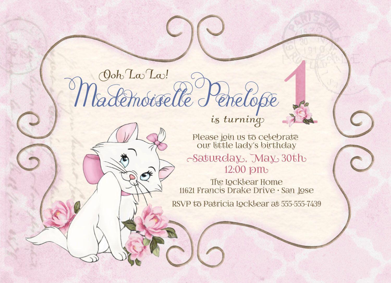 Vintage Chic Aristocat Birthday Invitation --5\