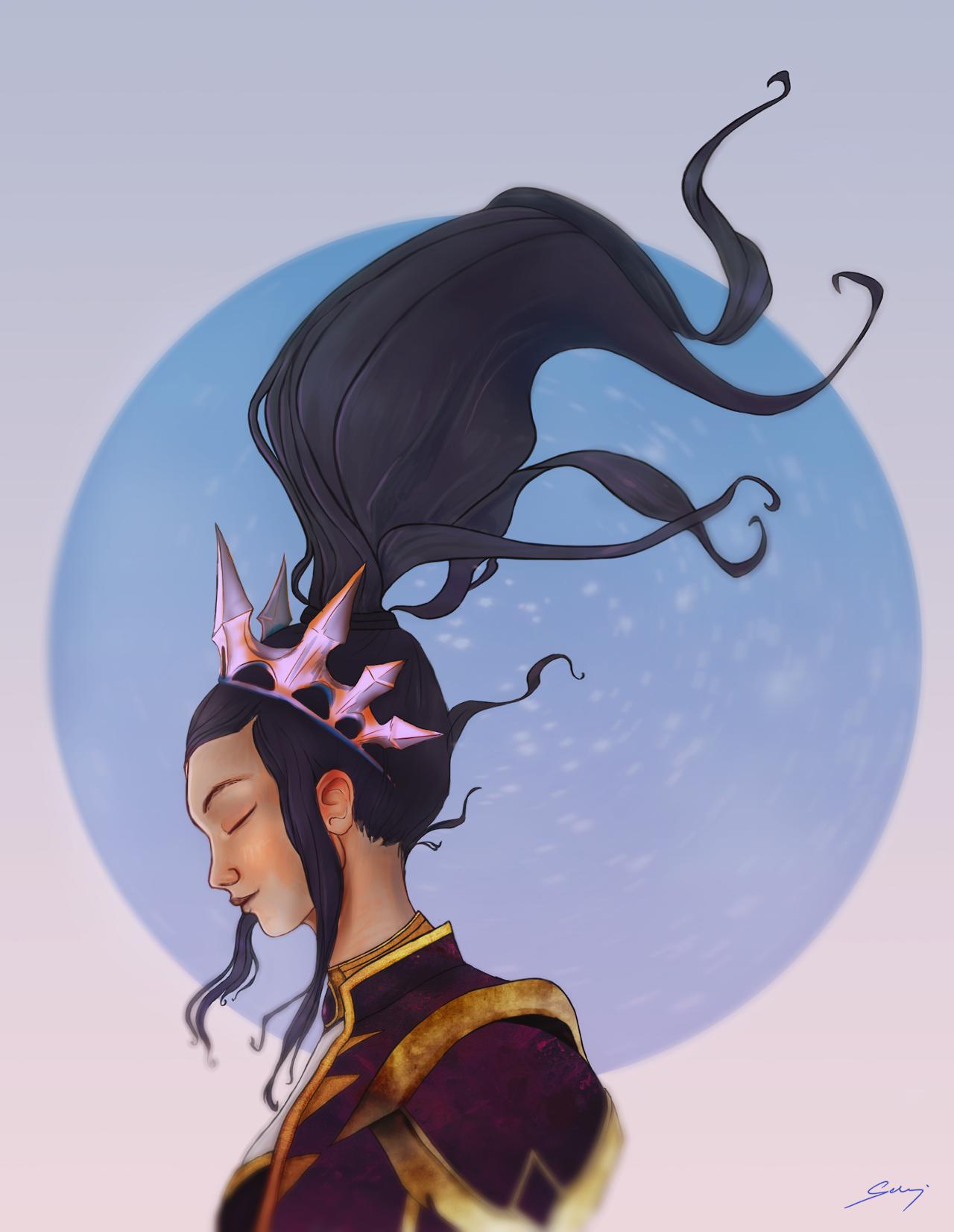 Pvaia Art Li Ming Diablo Fanart Heroes Of The Storm Hots Portrait Girl Black Hair Blizzard Inspiration Golden Aesthetics Art Fan Art My Arts