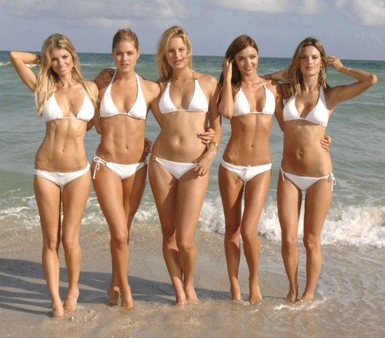 secret bikini white Victoria model