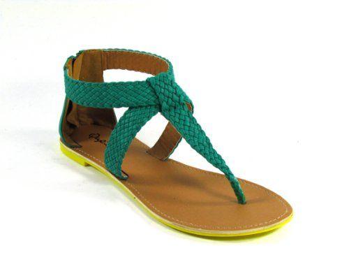Qupid Athena-528 Braided T-Strap Flat Sandal, Green PU, 10 Qupid,http://www.amazon.com/dp/B00C6QOP6G/ref=cm_sw_r_pi_dp_Cc3qtb0CECQZHHX9