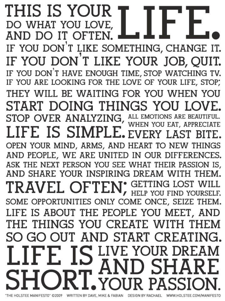 Share Your Passion by Ryan Hamrick  HOLSTEE Manifesto