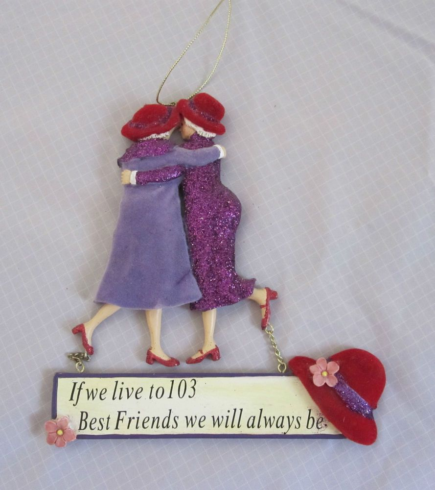 Red Hat Society Wall Plaque If We Live To 103 Best Friends We