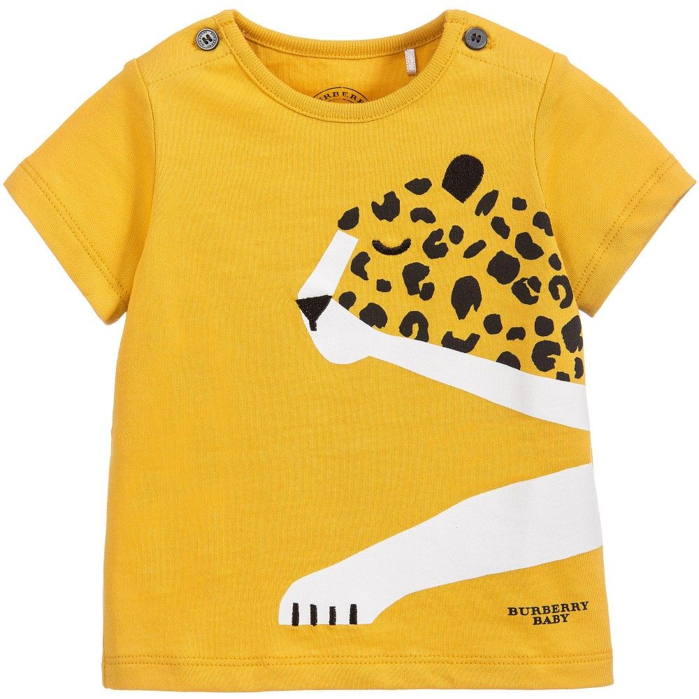 3954bb3748ed Burberry Baby Boys Yellow Cheetah T-Shirt