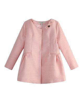 Pink Tweed Bow Jacket - Toddler & Girls