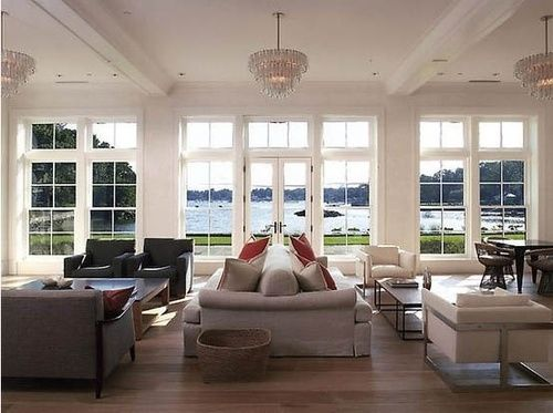 Bring Back Intimacy In A Large Room With Back To Back Sofas Designed Large Living Room Home Great Rooms