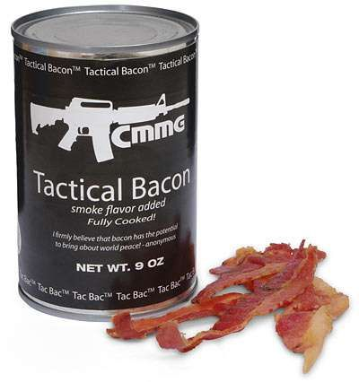 The Tac Bac Tactical Canned Bacon is Perfect for Bunkers #bacon #baconcreations