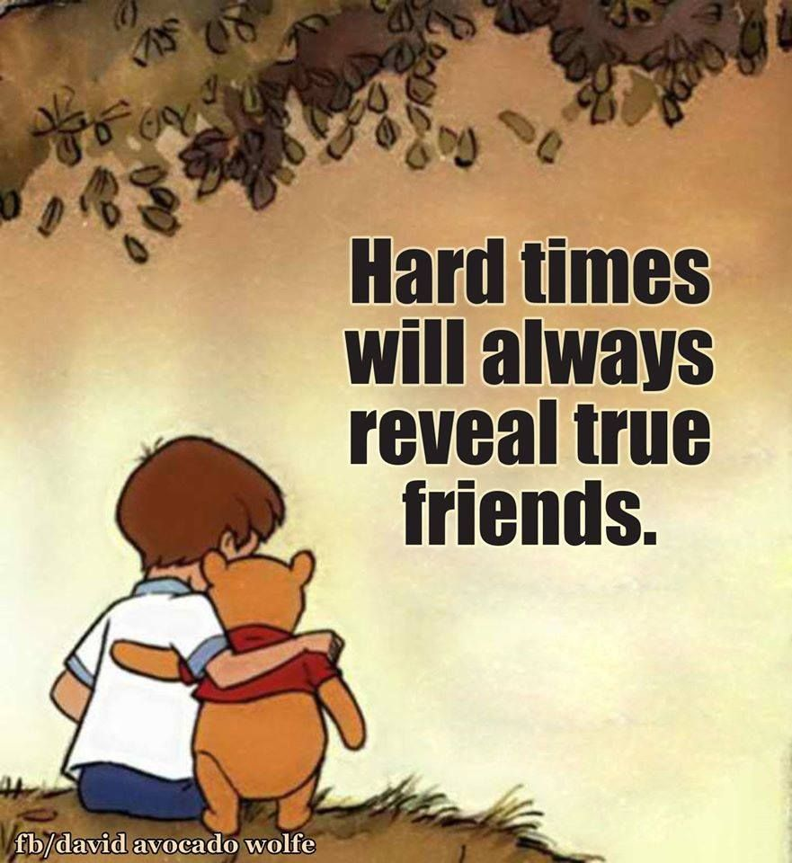 Disney Quote About Friendship Pincindy Linksfagan On Pooh  Pinterest  True Friends Hard