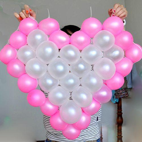Heart Shape Mesh Model 38 Grids Net Frame Balloon Holder Wedding ...