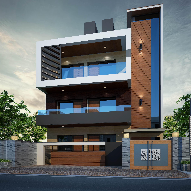 Modern House in Gurgaon, India. Architect Paras Gulia