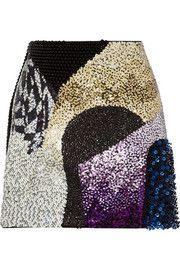 3.1 Phillip LimSequined wool-twill mini skirt