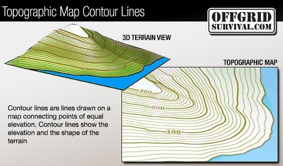 Contour Lines On A Topographic Map Connect.Navigation How To Read Topographic Maps Survival And Outdoors
