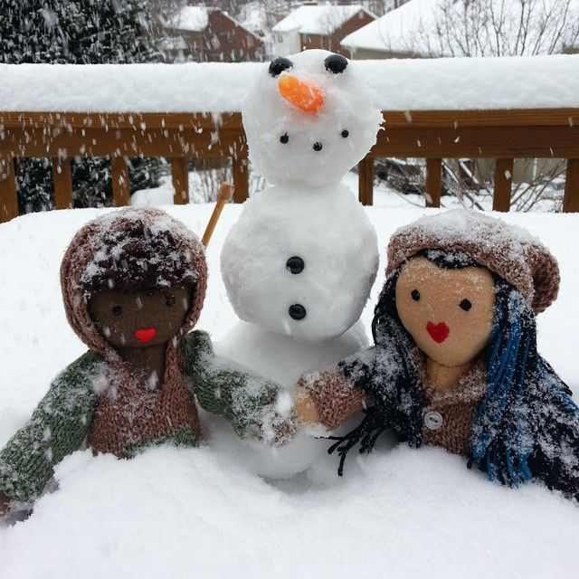 #IndigoMuseFriends were busy out in the snow today! #doyouwanttobuildasnowman #dolls #stuffies #toys #handmade #handknit #lifeisbetterwithafriend #bhavanashaktifriends #comingsoon #snowday #junipermoonfarmyarn