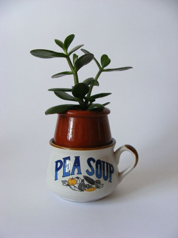 retro soup bowl // stoneware mug