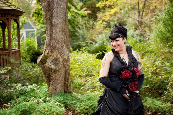 Gorgeous Black Wedding Dress in Taffeta by WeddingDressFantasy, $689.00