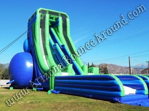 Big Inflatable Water Slides For Festivals And Events Huge Inflatable Slide Rentals Arizona Califor Inflatable Water Slide Water Slides Blow Up Water Slide