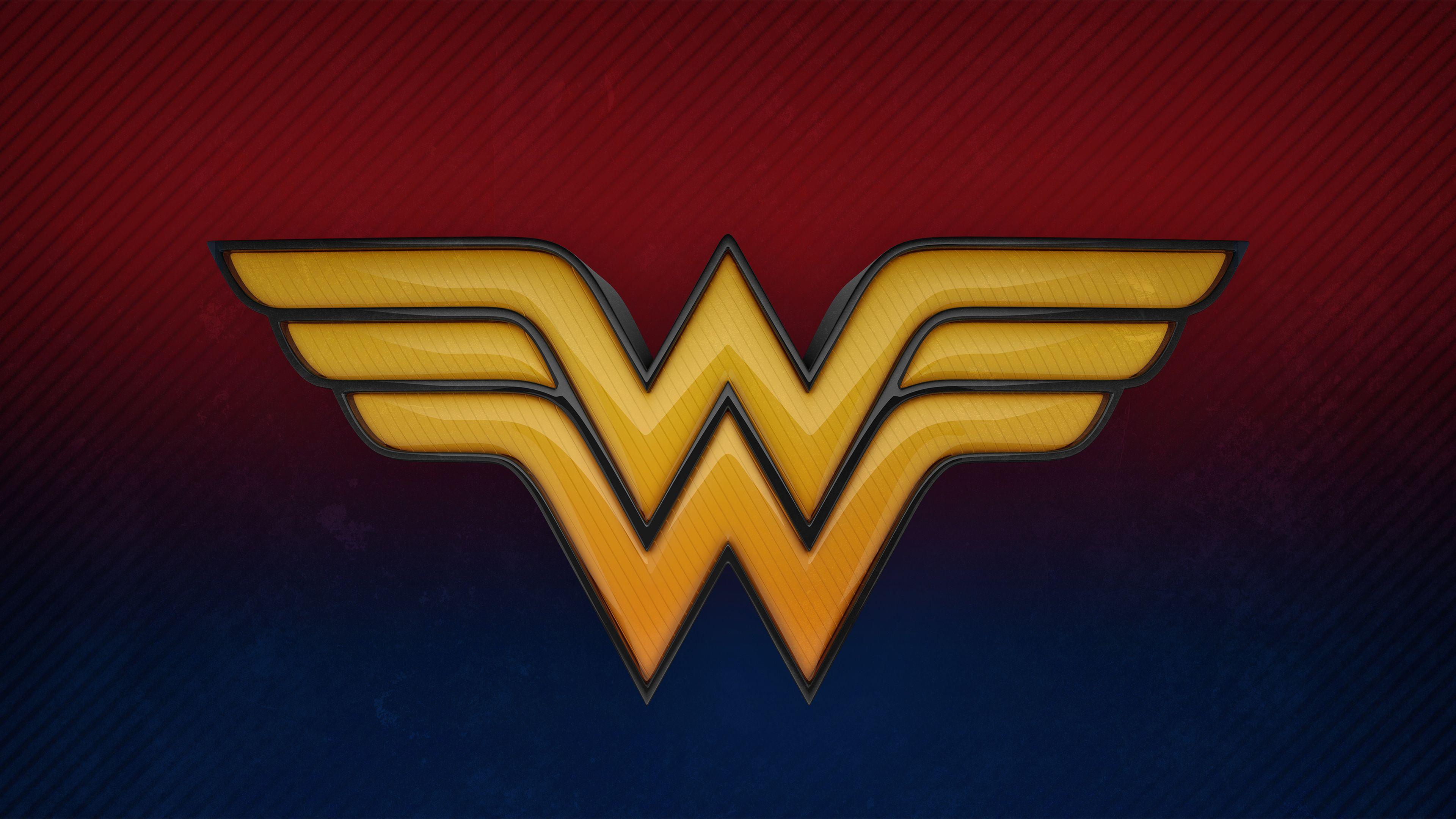 Wonder Woman 3d Logo 4k wonder woman wallpapers