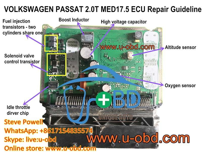 How To Repair Volkswagen Ecu Bosch Med17 5 Motronic Ecu Repair Ecu Car Ecu