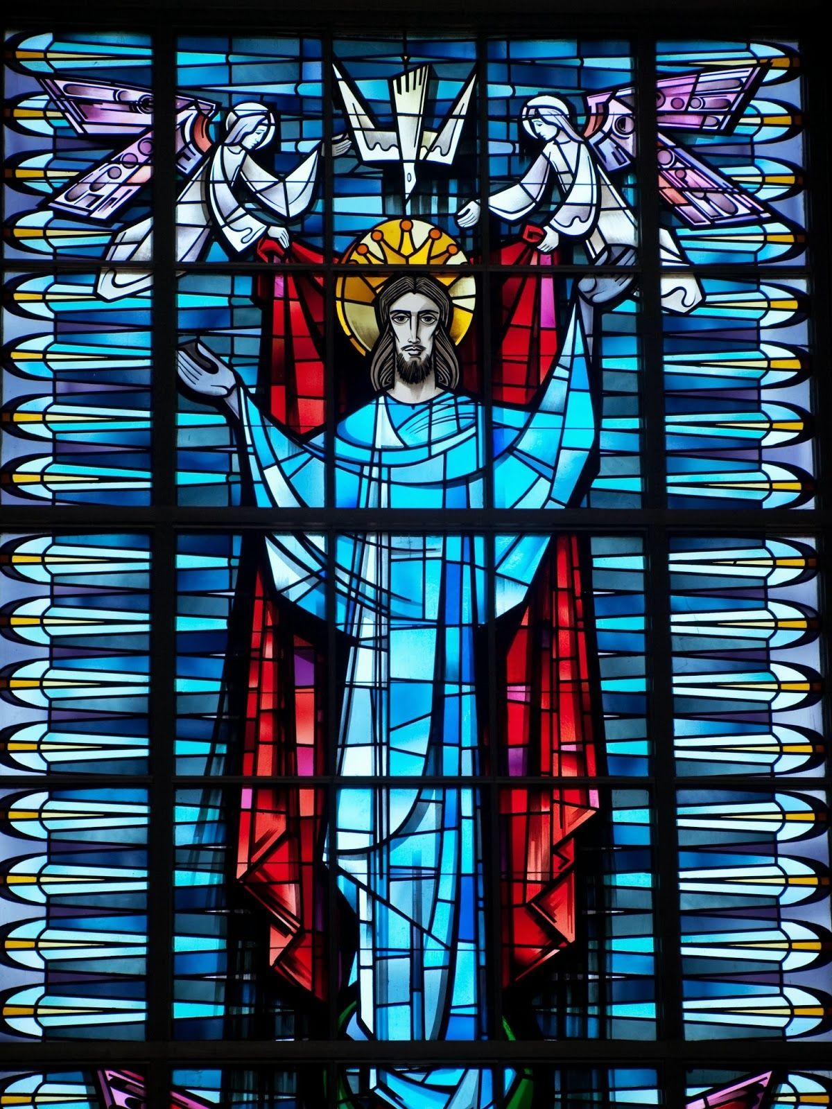 Window in the chapel of Concordia University, Mequon, Wisconsin.