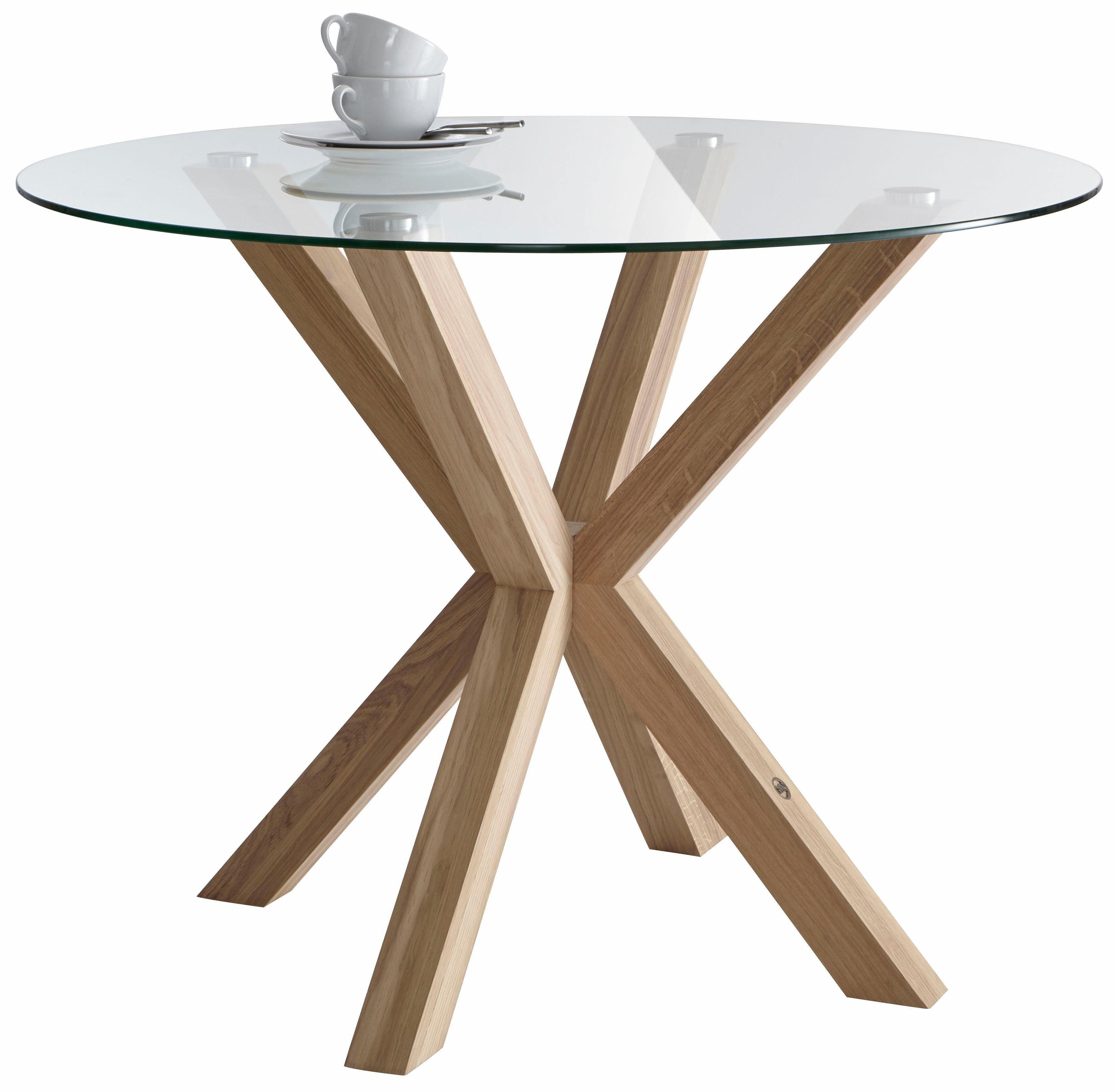 Gmk Home Living Esstisch Dinard O 100 Cm Mit Runder Glasplatte Jetzt Bestellen Unter Https Moebel Ladendirekt De Kueche Und Esstisch Tisch Kuche Tisch