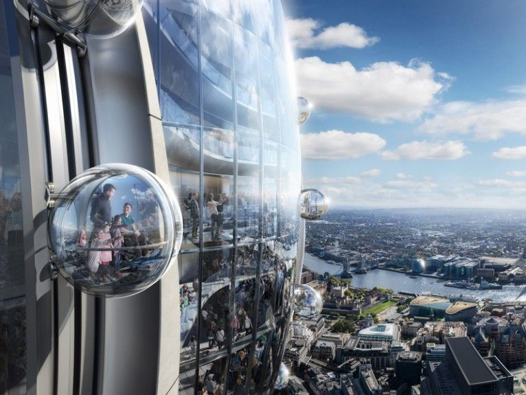 The Tulip A New Public Cultural And Tourist Attraction Proposed For The City Of London With Images London City Tourist Attraction Futuristic Architecture