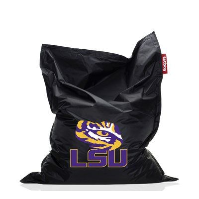 Collegiate Bean Bag Chair NCAA Team: LSU, Upholstery: Black   Http:/
