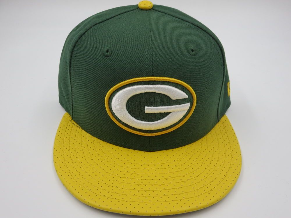 Green bay packers leather bill 9fifty nfl new era