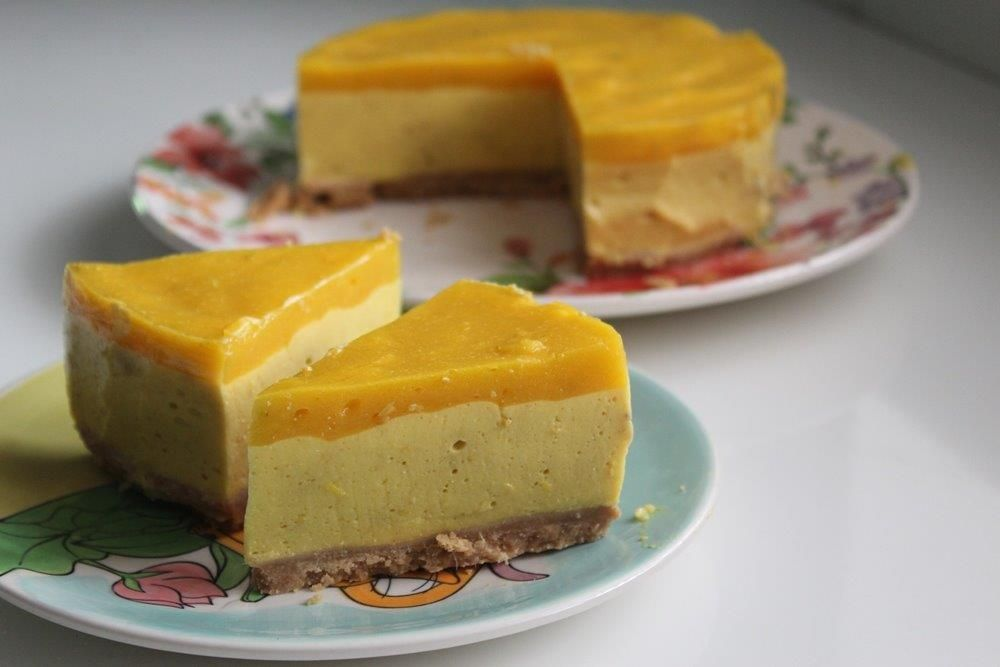 No Bake Mango Cheesecake Recipe Yummy Tummy Recipe In 2020 Cheesecake Recipes Apple Cake Recipes Blueberry Cheesecake Recipe