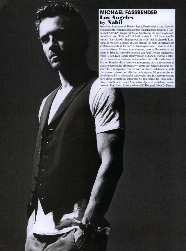 Michael Fassbender - L'uomo Vogue Editorial They Have Talent: Michael Fassbender, October 2009