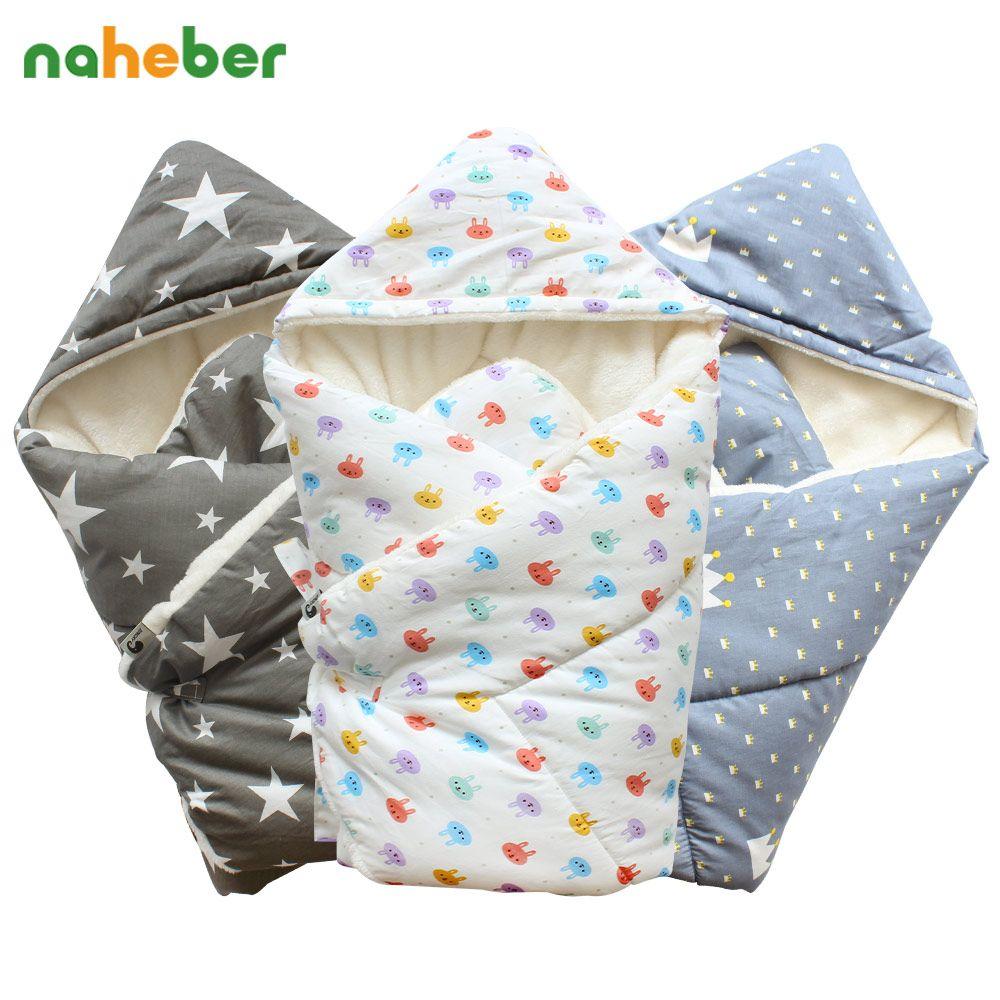 5f35d42ac Barato Swaddle bebê 90x90 cm Cobertor Do Bebê Quente Grosso Berber Fleece  Envelopes Para Recém nascidos Envoltório Infantil Fundamento Do Bebê  Dormir