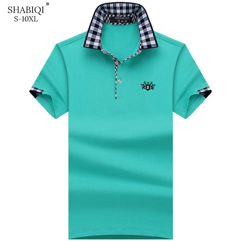 Shabiqi Plus Size S 10xl Brand New Men S Polo Shirt Men Cotton Short