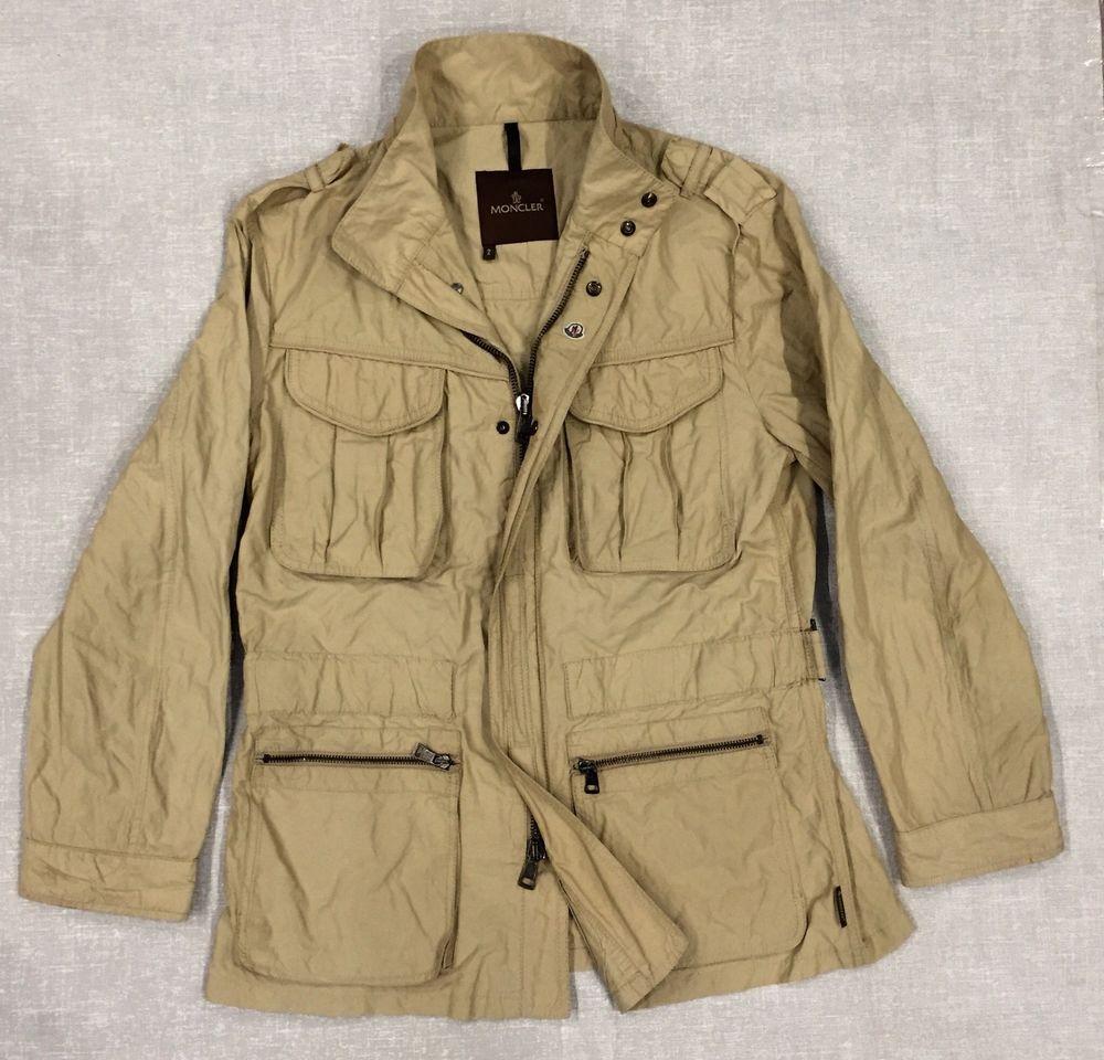 Men's Moncler Jacket Windbreaker Waterproof Sand size 2