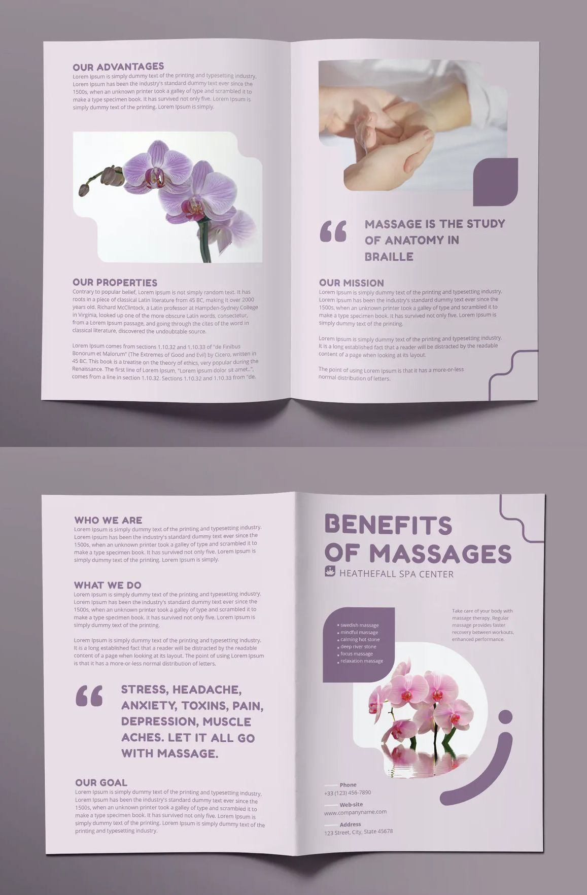 Massage Bifold Brochure Template In 2020 Brochure Template Bi Fold Brochure Brochure Design Layout
