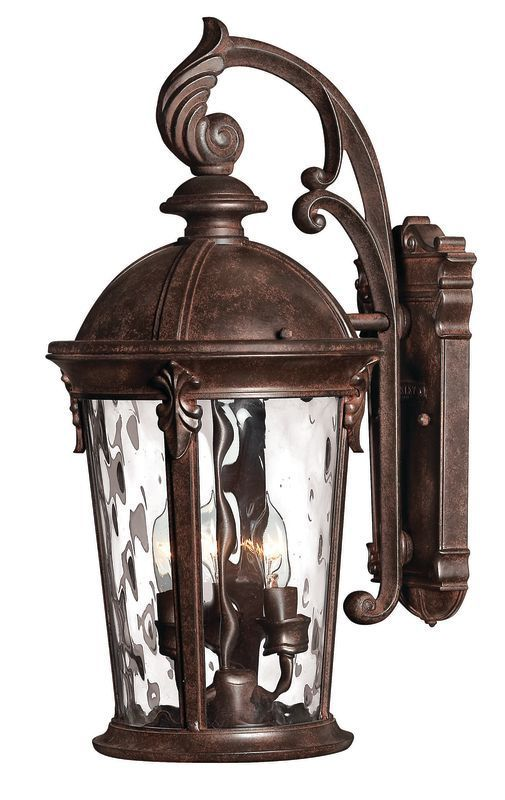 Hinkley lighting h1898 20 75 height 3 light lantern outdoor wall sconce from th river rock