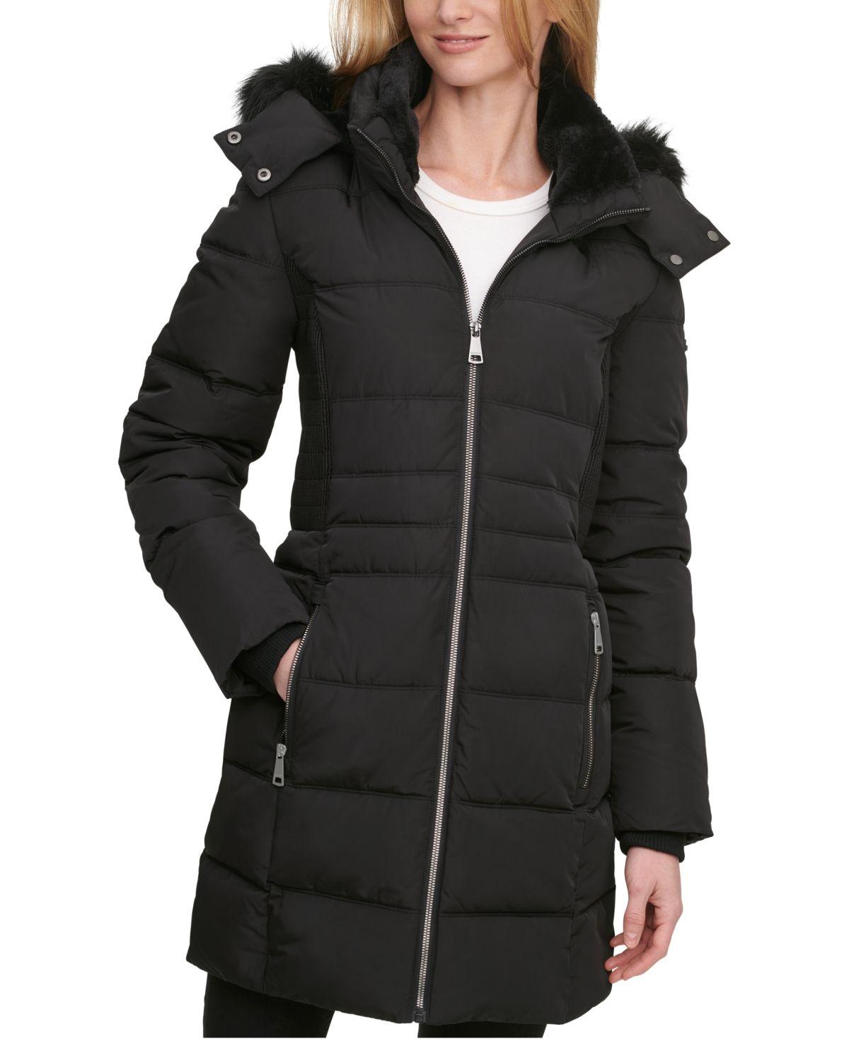 Dkny Faux Fur Trim Hooded Puffer Coat Created For Macy S Reviews Coats Women Macy S Puffer Coat Fur Trim Coats For Women [ 1467 x 1200 Pixel ]