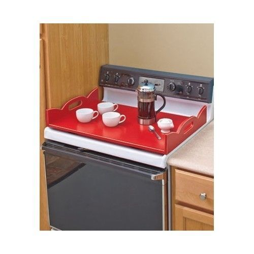 Details about Stove Top Cover Wooden Serving Tray Kitchen ...