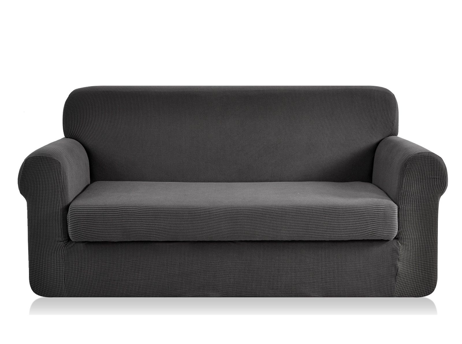 Chun Yi Jacquard Oversize Sofa Covers 2piece Stretch Polyester Spandex Fabric Xl Couch Slipcover 4 Seater Cushio In 2020 Slipcovered Sofa Slipcovers Leather Sofa Couch
