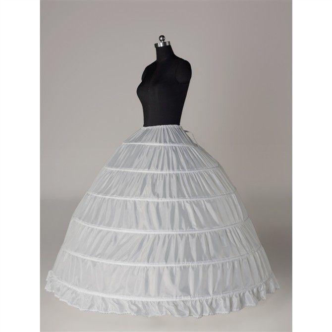 Petticoats For Wedding Dress 6 Hoops Elastic  Waist Bridal Crinoline Long Skirt  Vestido Quinceanear Dresses Petticoat  PC11