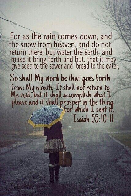 faithprayers: God's word will accomplish His purpose