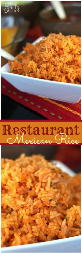 Restaurant Style Mexican Rice #mexicandishes