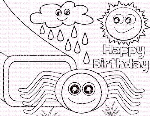 Bitsy Coloring Itsy Pages Spider 2020 With Images Spider
