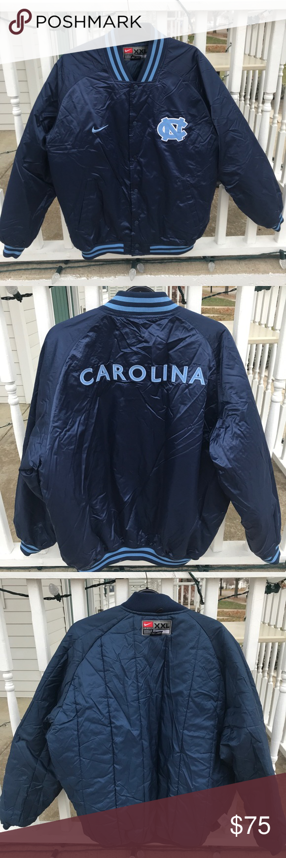Nike North Carolina Tar Heels Bomber Satin Jacket Satin Jackets Jackets North Carolina Tar Heels [ 1740 x 580 Pixel ]