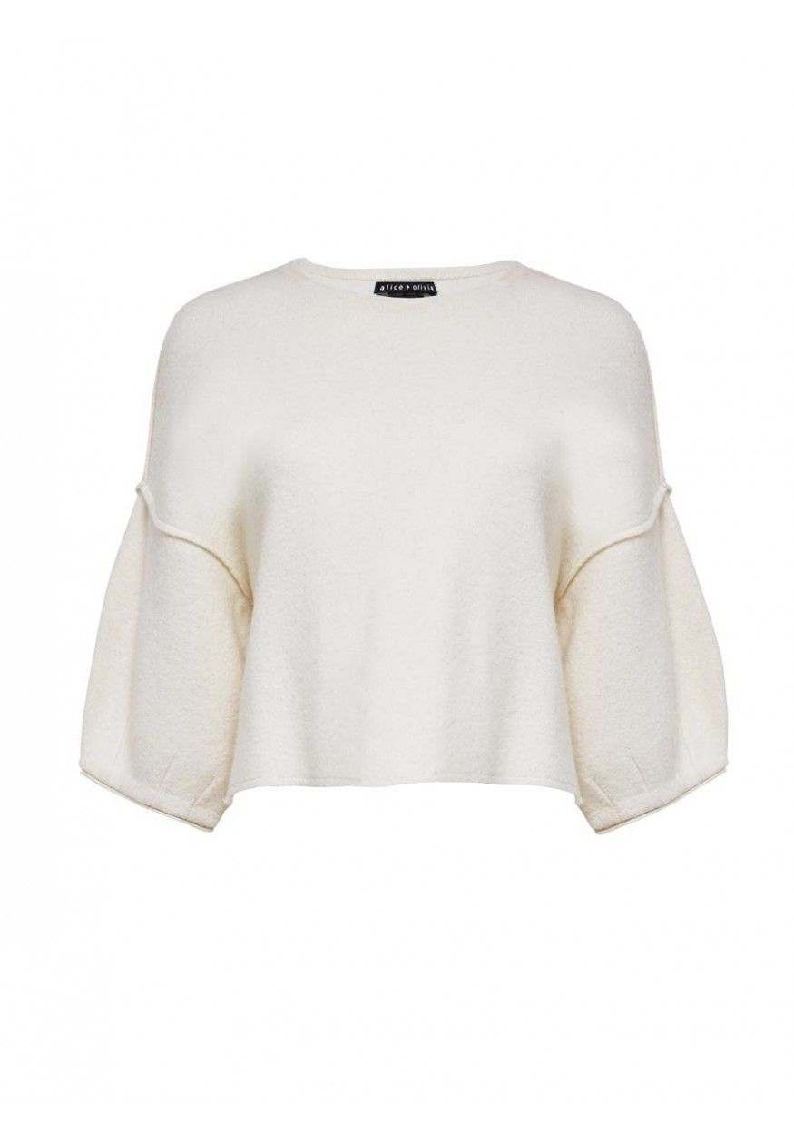 AUDREANA BOXY SWEATER in CREAM by Alice + Olivia