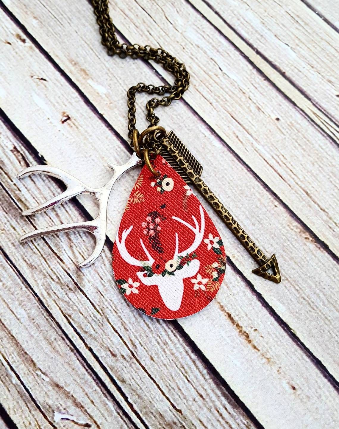 Leather Pendant Necklace Buffalo Plaid Leather Necklace Hand Stamped Faith Necklace Custom Hand Stamped Necklace