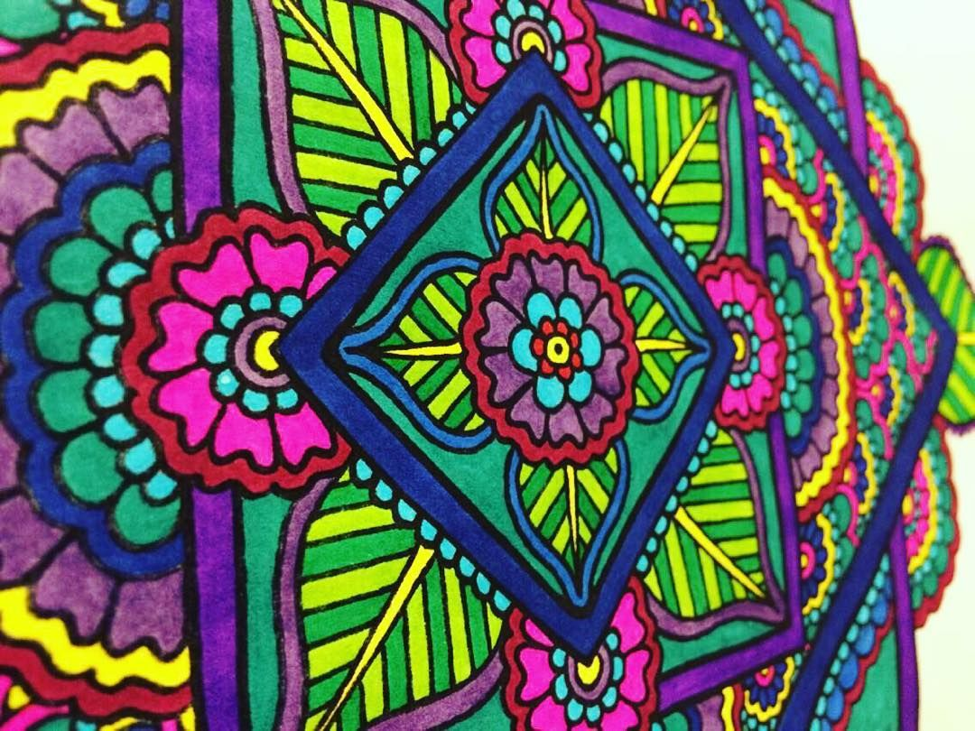 Close-up of one of the pages you can color in my book! Available ...