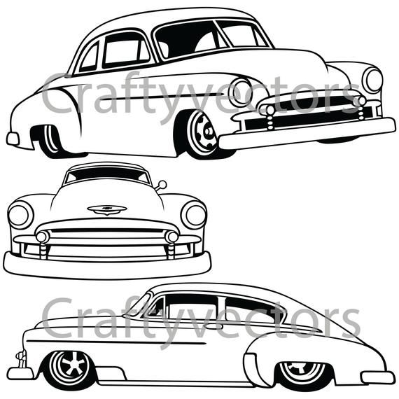 Chevrolet Fleetline Lowered 1951 Vector File