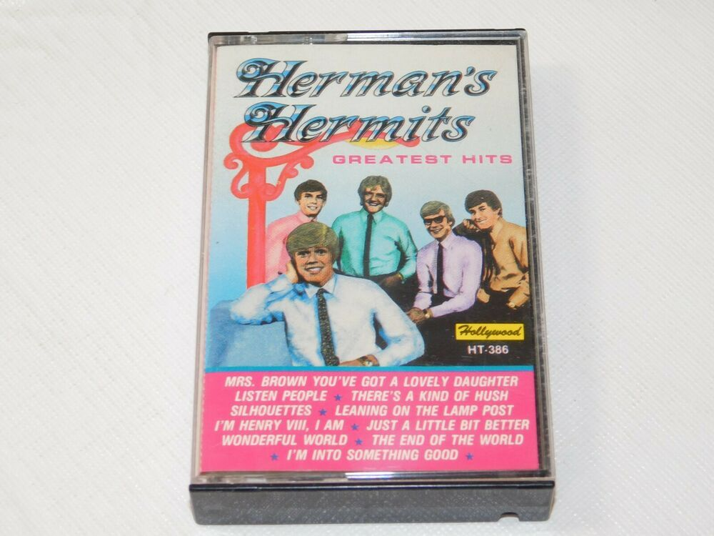 Herman S Hermits Greatest Hits Cassette Tape 1988 Highland Music Leaning On The Greatest Hits Cassette Tapes Cassette