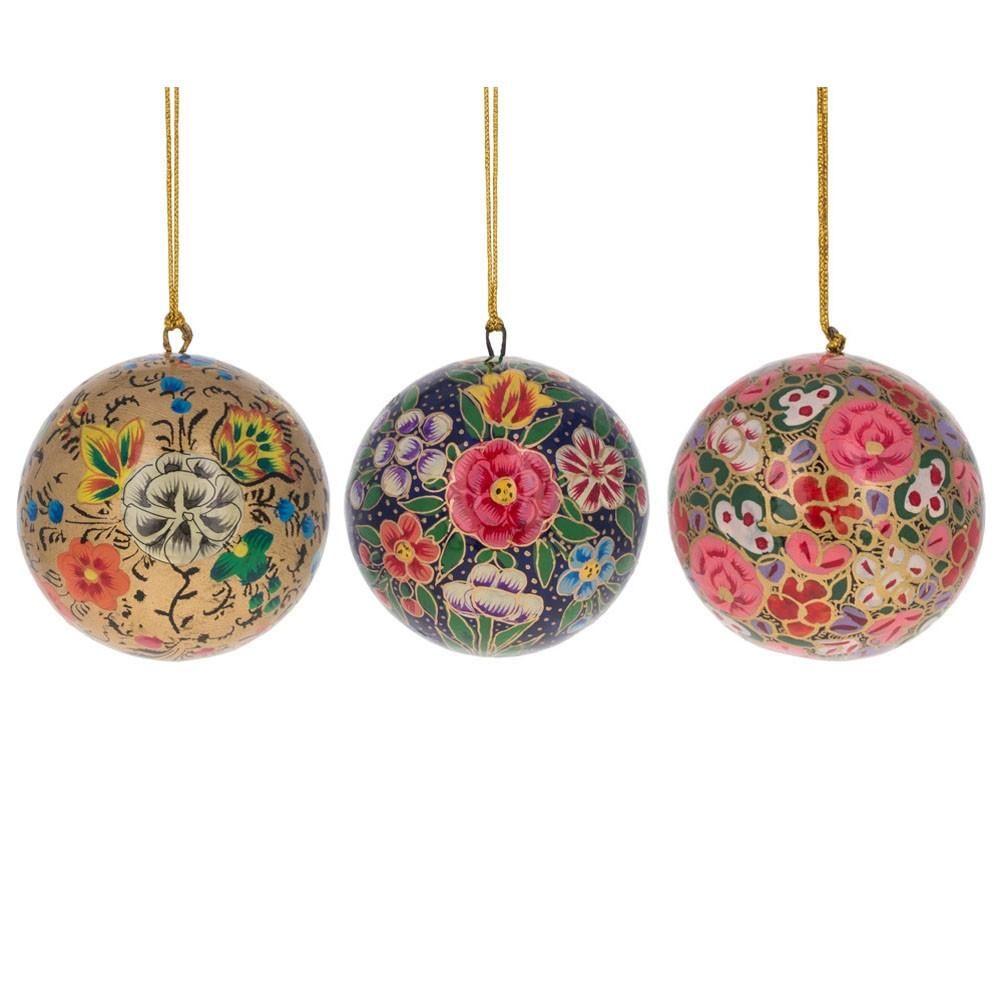 4 Different Styles Set of 12 DIY Paper Mache Christmas Ornament Set