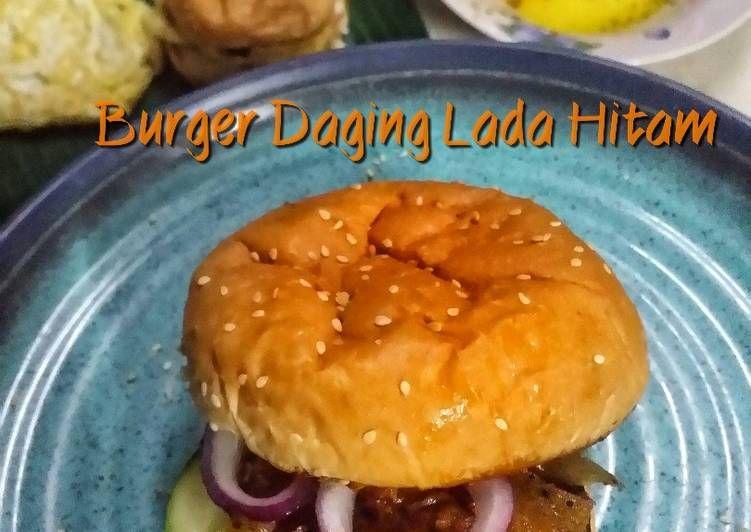 Cara Memasak Burger Daging Lada Hitam Yang Enak Aneka Resepi Enak Resep Di 2020 Memasak Burger Cara Memasak